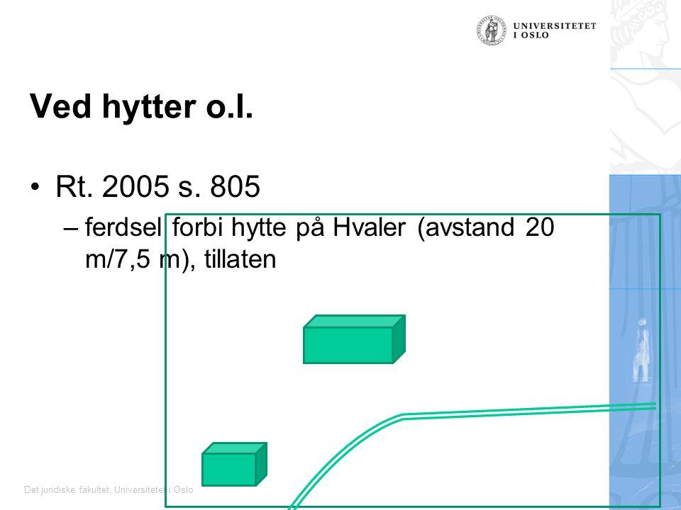Det juridiske fakultet, Universitetet i Oslo Ved hytter o.l.