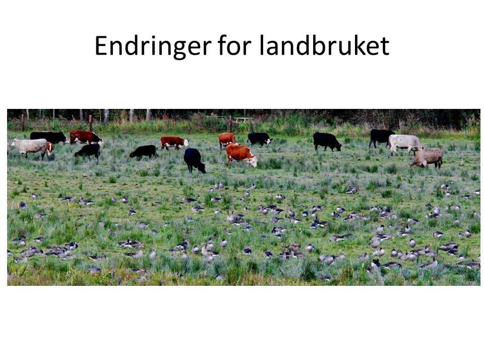 Endringer for landbruket