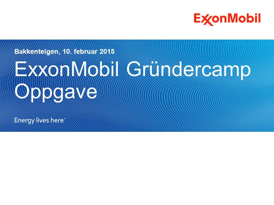 ExxonMobil Gründercamp Oppgave Bakkenteigen, 10. februar 2015