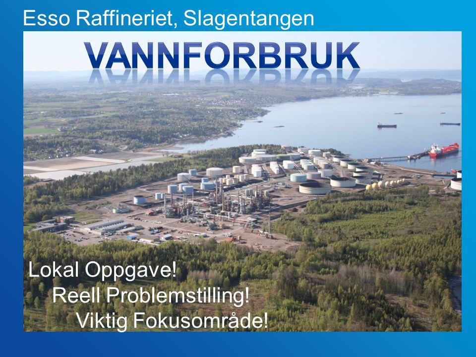 Esso Raffineriet, Slagentangen Lokal Oppgave! Reell Problemstilling! Viktig Fokusområde!
