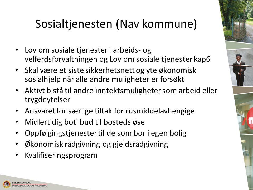 Sosialtjenesten (Nav kommune) Lov om sosiale tjenester i arbeids- og velferdsforvaltningen og Lov om sosiale tjenester kap6 Skal være et siste sikkerh