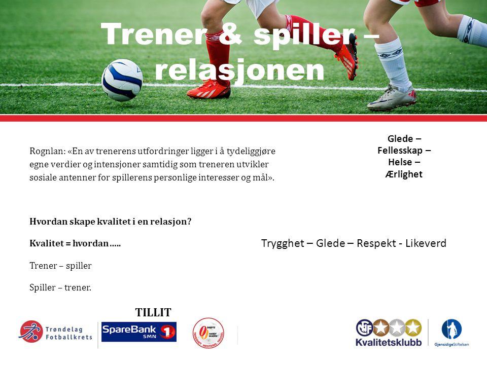 Trener & spiller – relasjonen Rognlan: «En av trenerens utfordringer ligger i å tydeliggjøre egne verdier og intensjoner samtidig som treneren utvikle