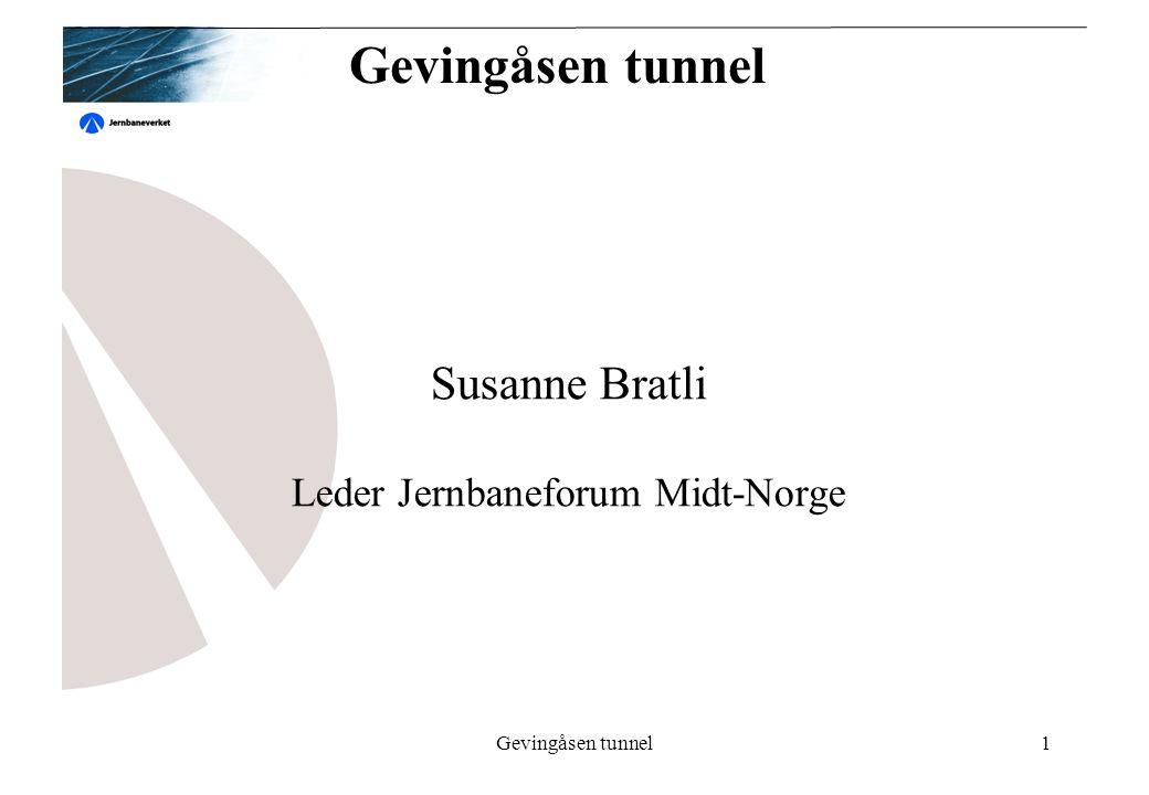 Gevingåsen tunnel1 Susanne Bratli Leder Jernbaneforum Midt-Norge