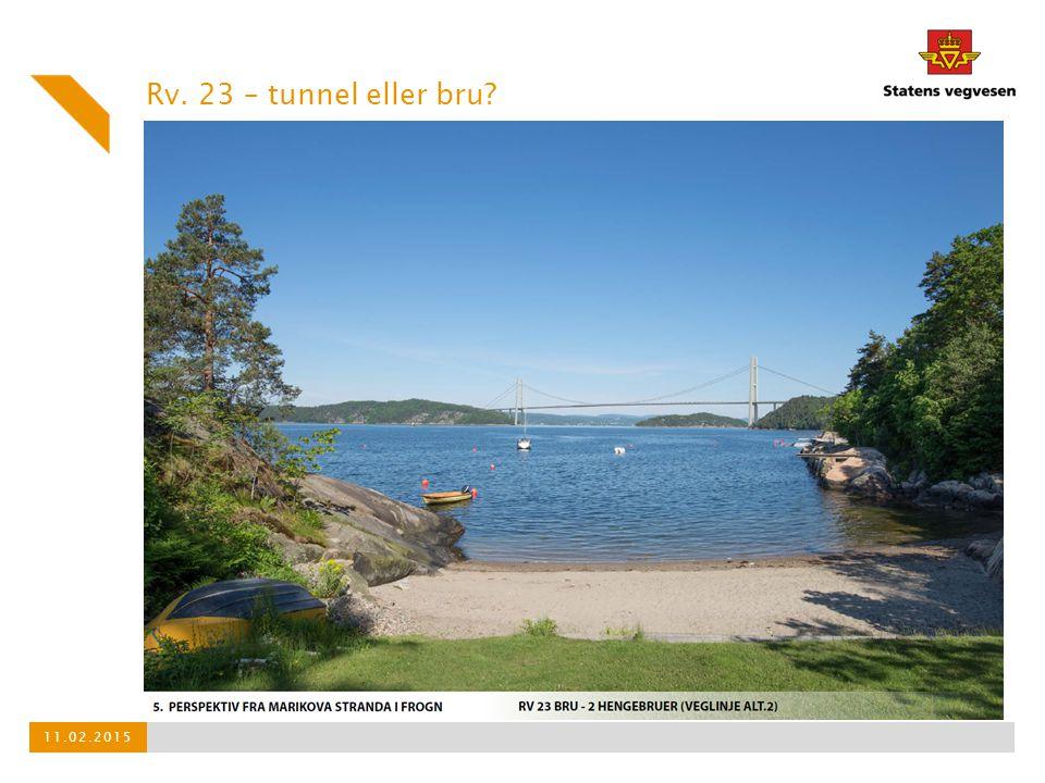 Rv. 23 – tunnel eller bru? 11.02.2015