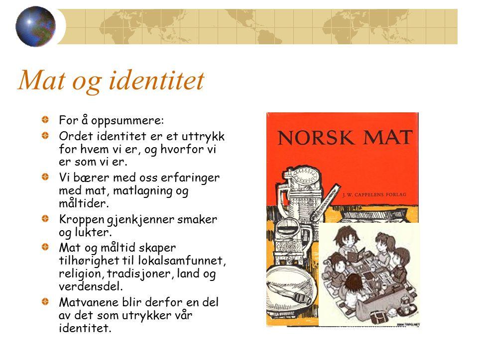 OPPGAVER TIL MAT OG KULTUR (på skolen) Matvett side 106 oppg.