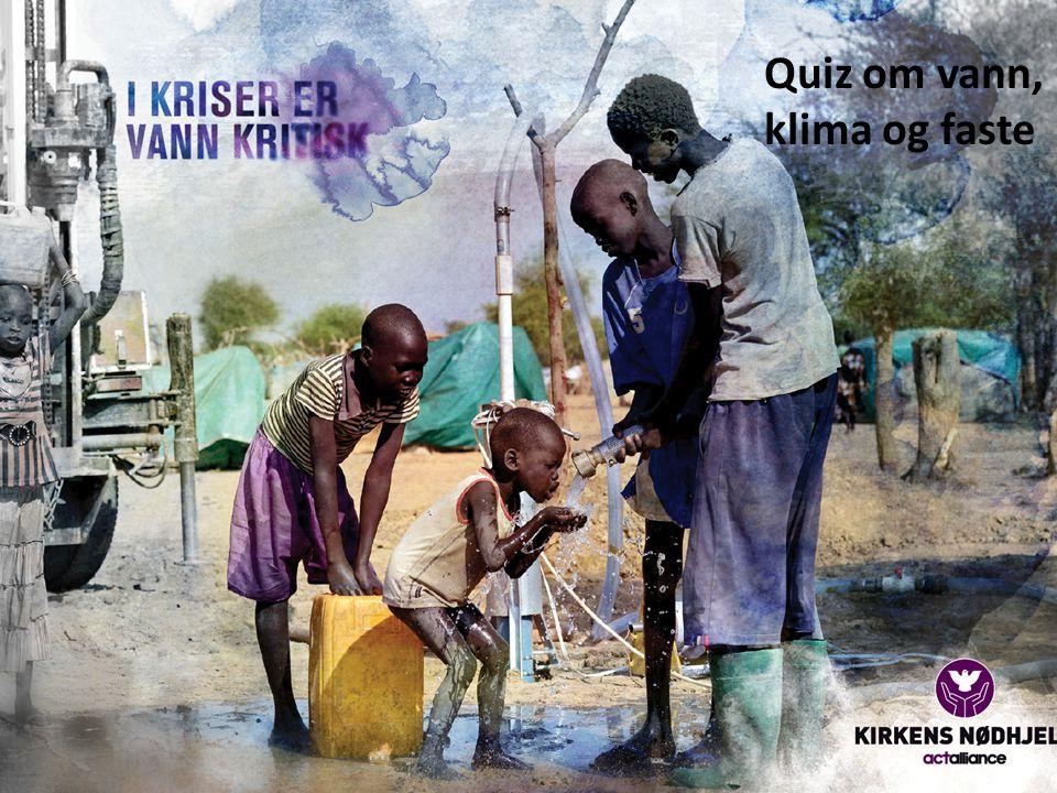 1)Hvor mye av vannet som finnes på jorden kan brukes til drikkevann? a)70 % b)40 % c)3 %