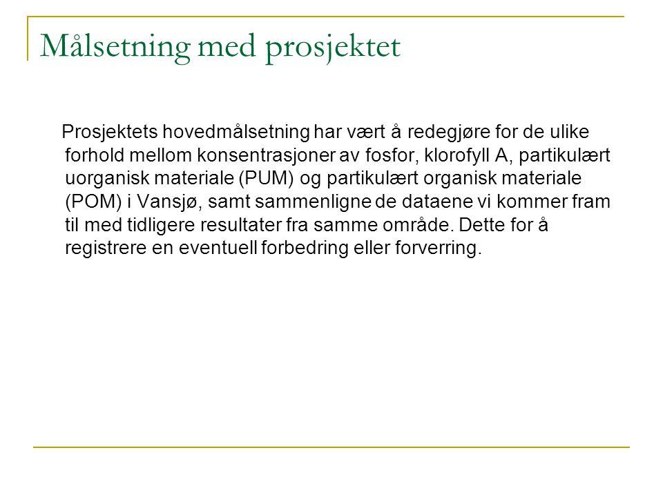 Ekskursjon Tirsdag 4.oktober dro vi til Vansjø for prøvetaking.