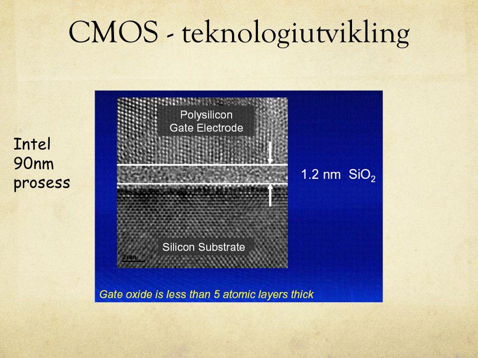 CMOS - teknologiutvikling Intel 90nm prosess
