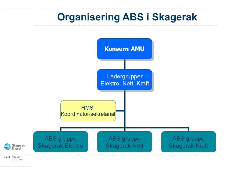 ABS-rapportering 2008 for Stasjonsavdelingen ABS – A dferds B asert S ikkerhet Ansv. Terje Veierud
