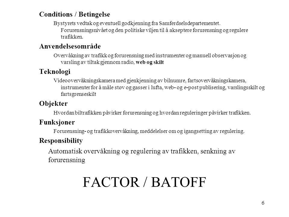 6 FACTOR / BATOFF Conditions / Betingelse Bystyrets vedtak og eventuell godkjenning fra Samferdselsdepartementet.