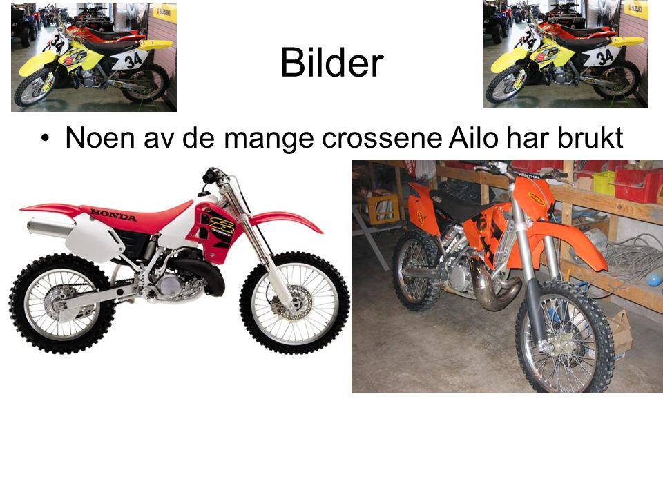 Bilder Noen av de mange crossene Ailo har brukt
