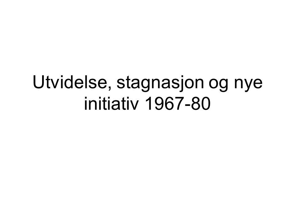 Utvidelse, stagnasjon og nye initiativ 1967-80