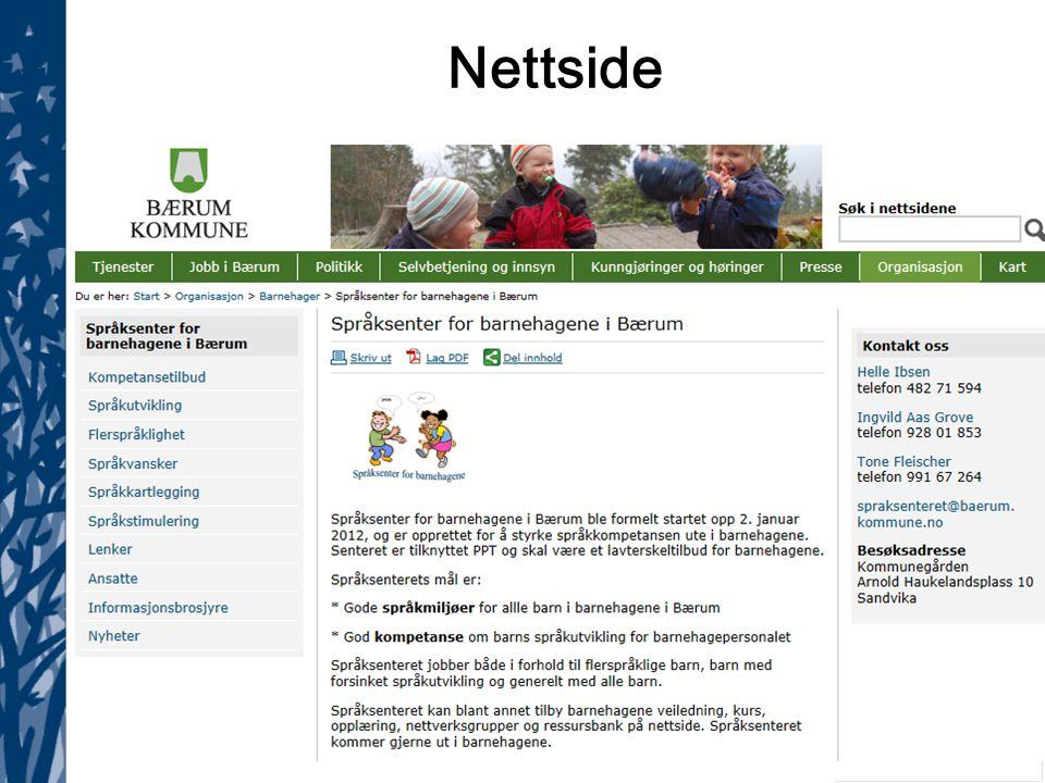 Språksenter for barnehagene 10.11.14 Nettside