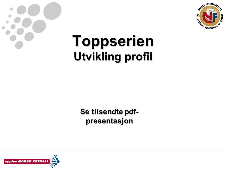 Toppserien Utvikling profil Se tilsendte pdf- presentasjon