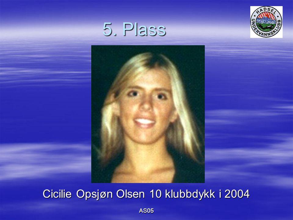 AS05 5. Plass Cicilie Opsjøn Olsen 10 klubbdykk i 2004
