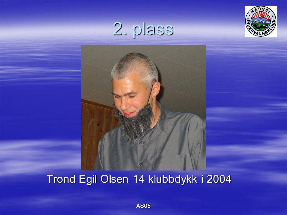 AS05 2. plass Trond Egil Olsen 14 klubbdykk i 2004 Trond Egil Olsen 14 klubbdykk i 2004