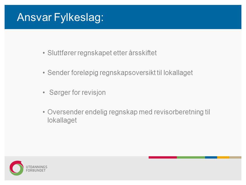 Ansvar UDF sentralt: Utbetaler kontingentmidler 4 ganger i året –(februar, april, september og desember) Utbetaler reiseregninger Utbetaler godtgjøring Innberetter lønn