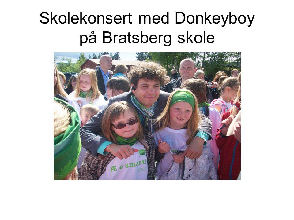 Skolekonsert med Donkeyboy på Bratsberg skole