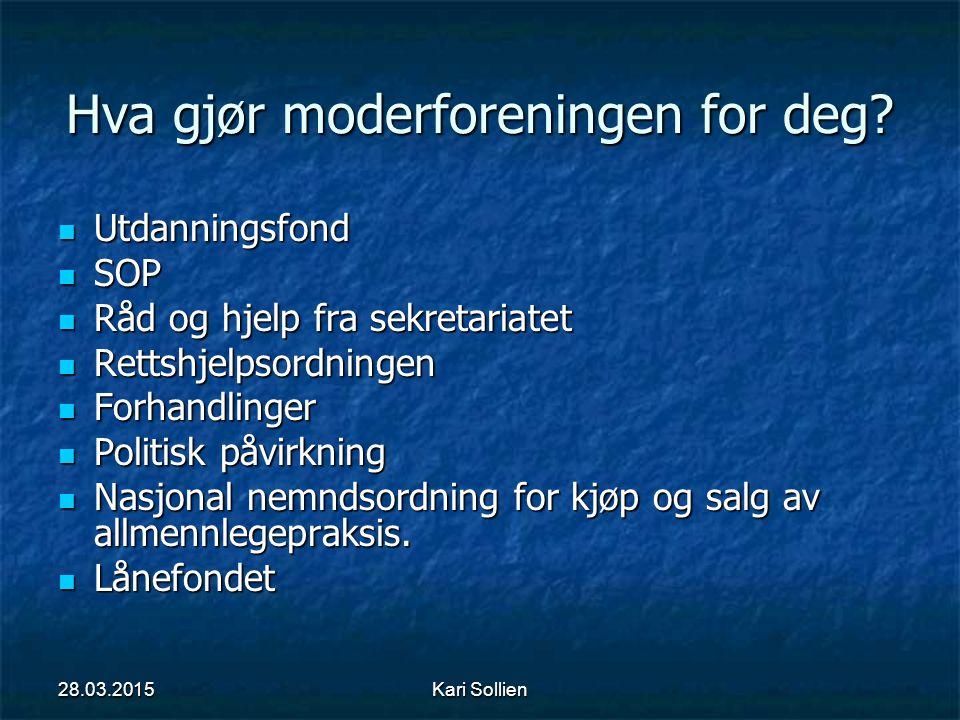 Kari Sollien Lokalforeningen Egne vedtekter Egne vedtekter Representanter fra ulike organisasjonsledd i fylket, blant annet 1.landsråd i Allmennlegeforeningen.