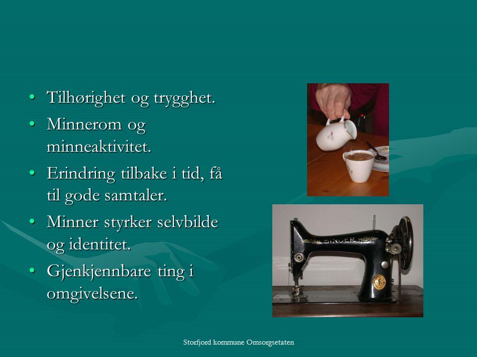 Storfjord kommune Omsorgsetaten Tilhørighet og trygghet.Tilhørighet og trygghet.