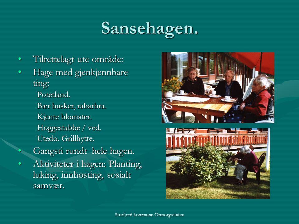 Storfjord kommune Omsorgsetaten Sansehagen.