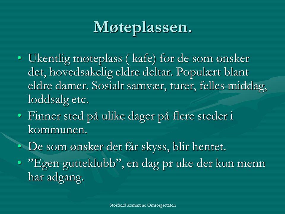 Storfjord kommune Omsorgsetaten Møteplassen.