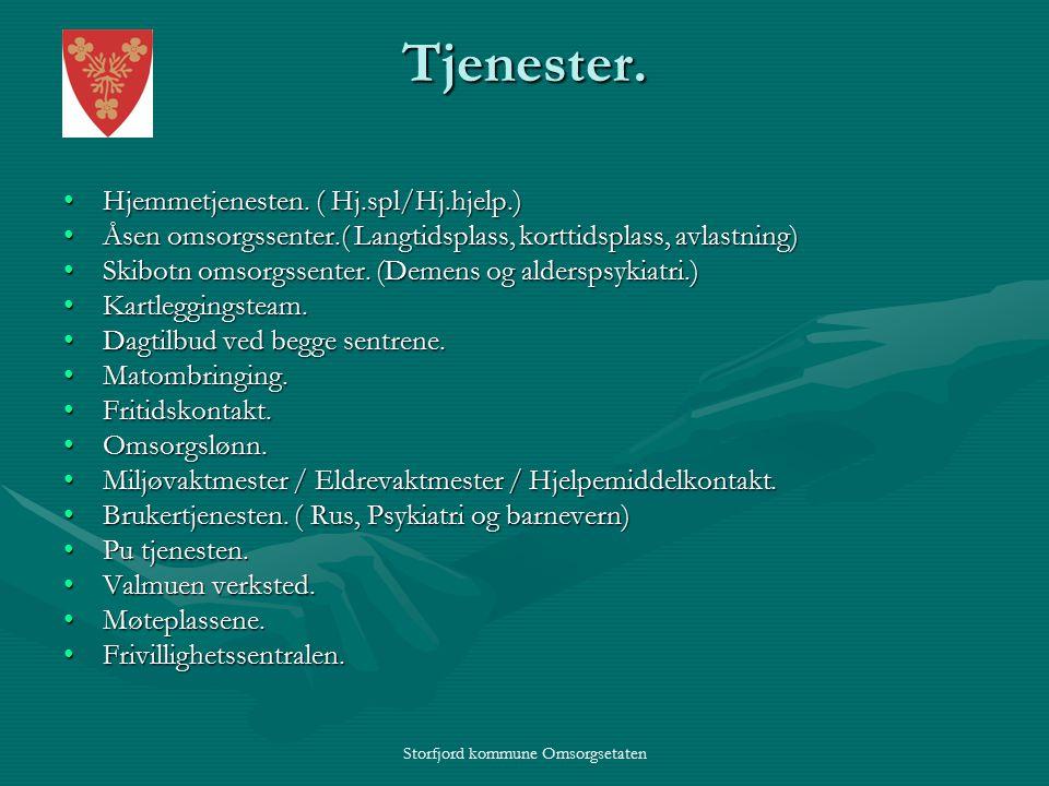 Storfjord kommune Omsorgsetaten Tjenester.Hjemmetjenesten.