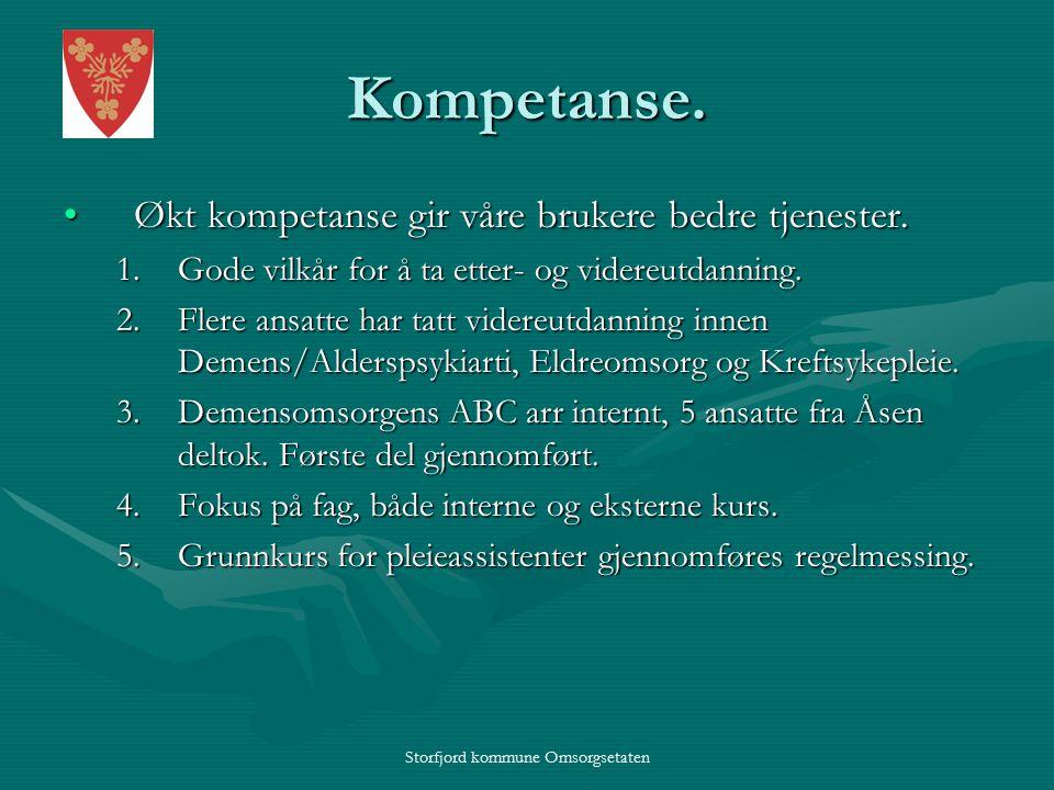 Storfjord kommune Omsorgsetaten Kompetanse.