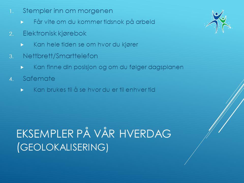 EKSEMPLER PÅ VÅR HVERDAG ( GEOLOKALISERING) 1.