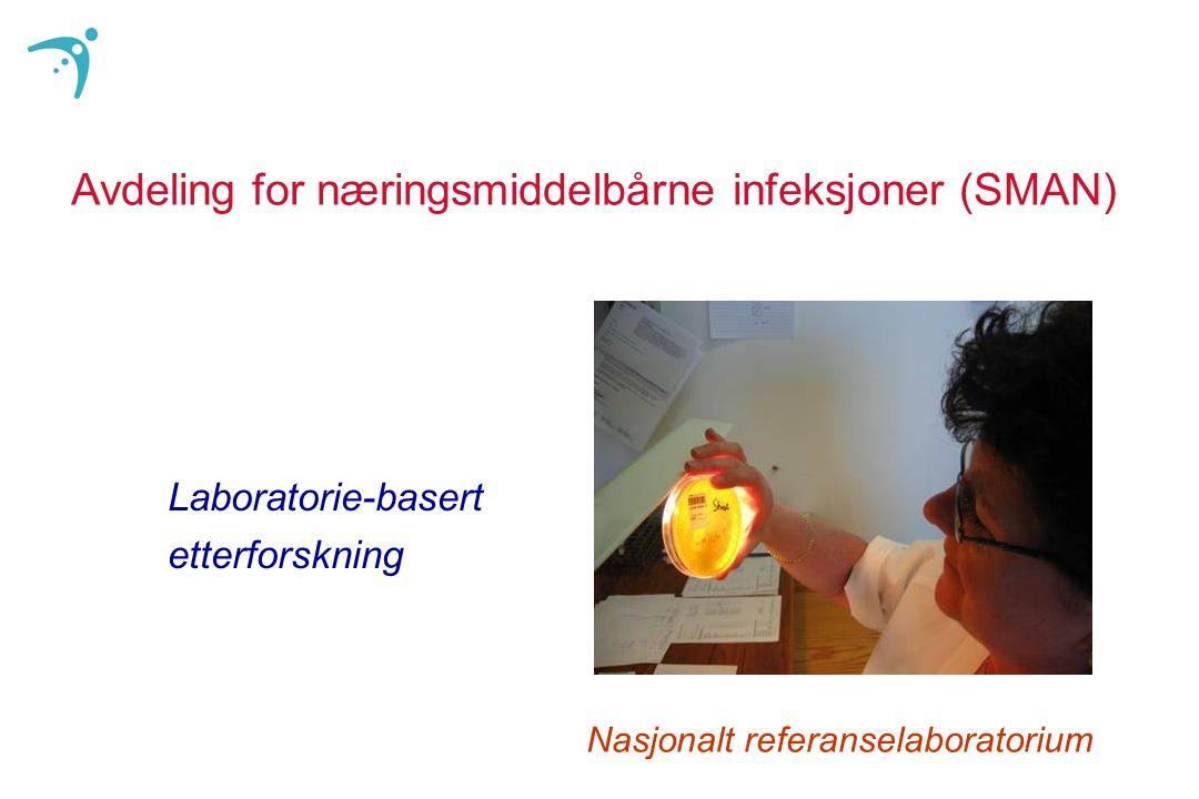 Avdeling for næringsmiddelbårne infeksjoner (SMAN) Laboratorie-basert etterforskning Nasjonalt referanselaboratorium