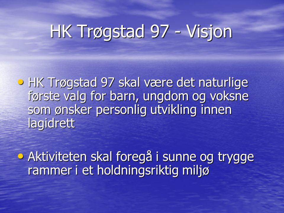 HK Trøgstad 97 - Visjon HK Trøgstad 97 - Visjon HK Trøgstad 97 skal være det naturlige første valg for barn, ungdom og voksne som ønsker personlig utv