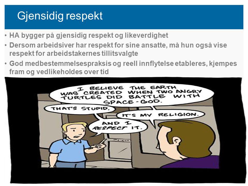 Lokal introduksjon Utdanningsforbundet Hordaland 2012 s23 Gjensidig respekt HA bygger på gjensidig respekt og likeverdighet Dersom arbeidsiver har res
