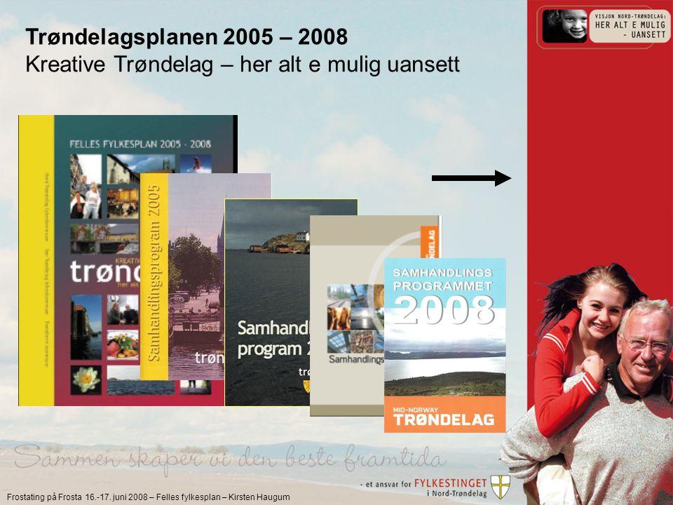 Frostating på Frosta 16.-17. juni 2008 – Felles fylkesplan – Kirsten Haugum Scenariene