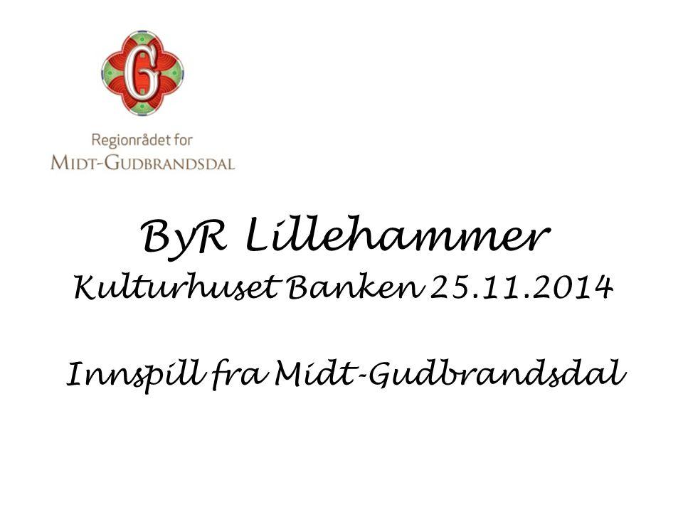ByR Lillehammer Kulturhuset Banken 25.11.2014 Innspill fra Midt-Gudbrandsdal