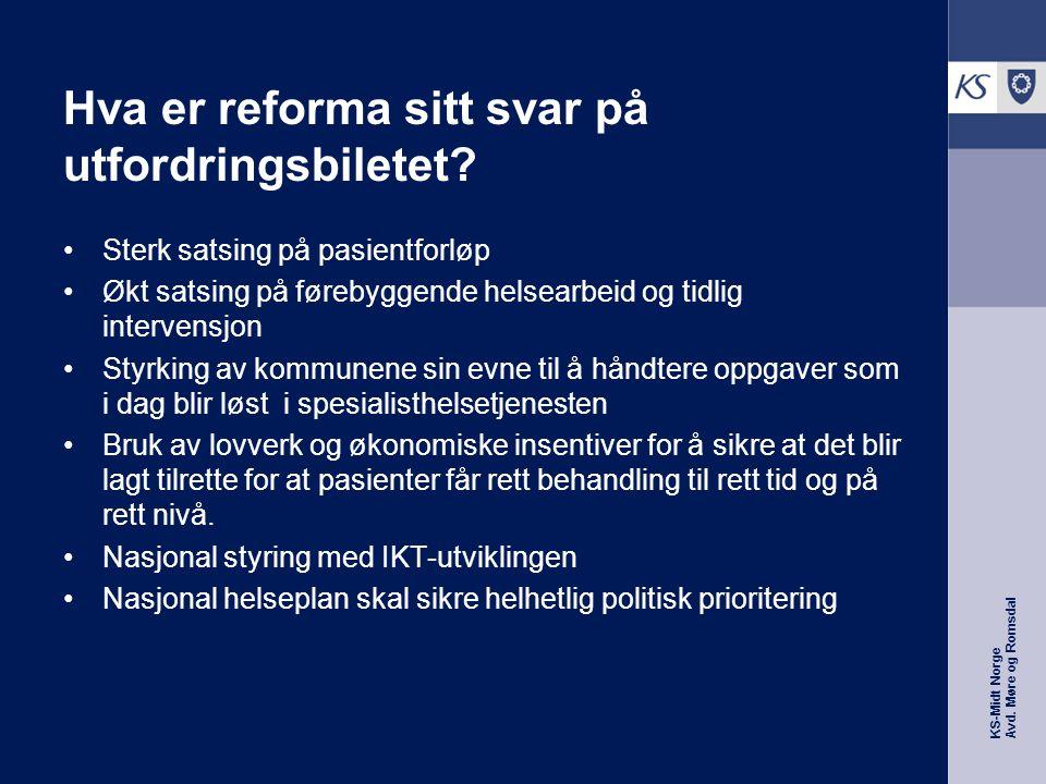 KS-Midt Norge Avd. Møre og Romsdal Hva er reforma sitt svar på utfordringsbiletet.