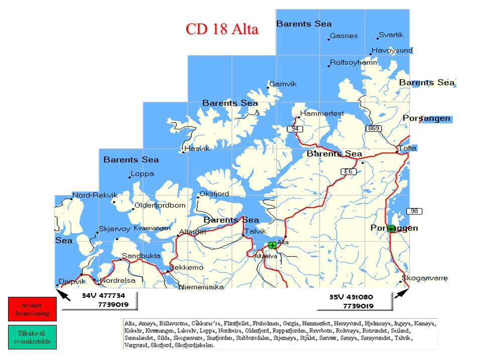 CD 18 Alta Tilbake til oversiktsbilde Avslutt fremvisning