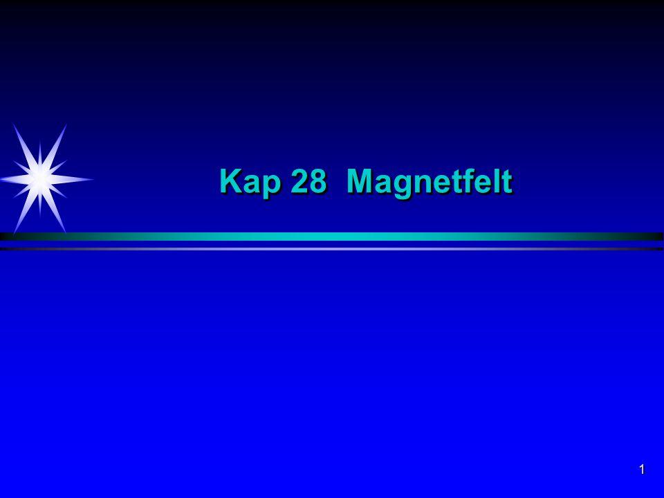 2 Magnetfelt Elektrisk ladning Q i ro genererer et elektrisk felt E.