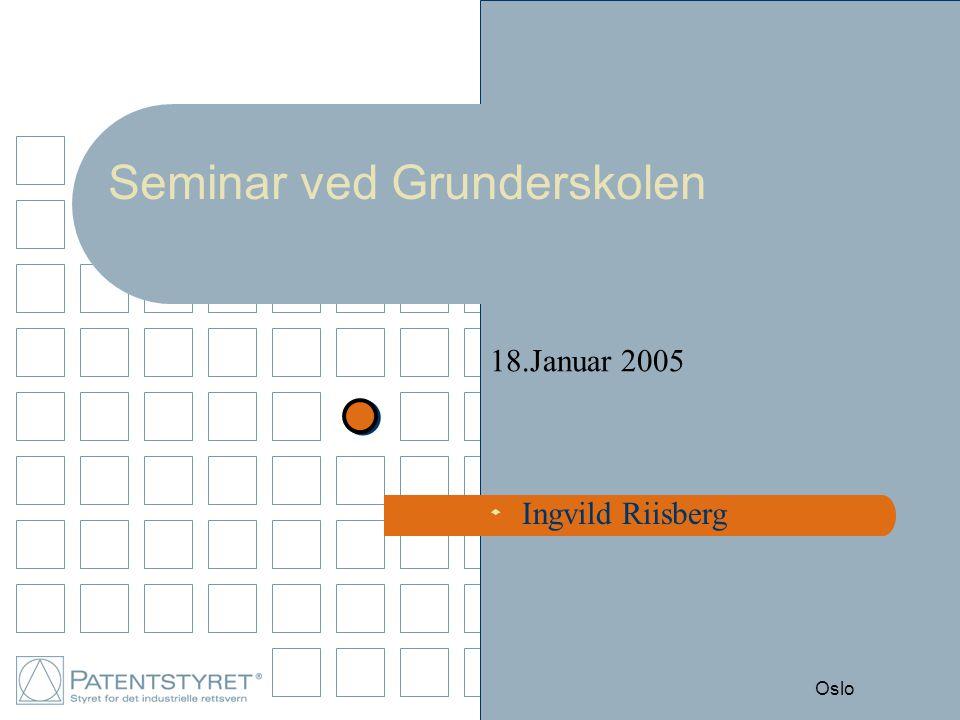 s Oslo Seminar ved Grunderskolen 18.Januar 2005 Ingvild Riisberg