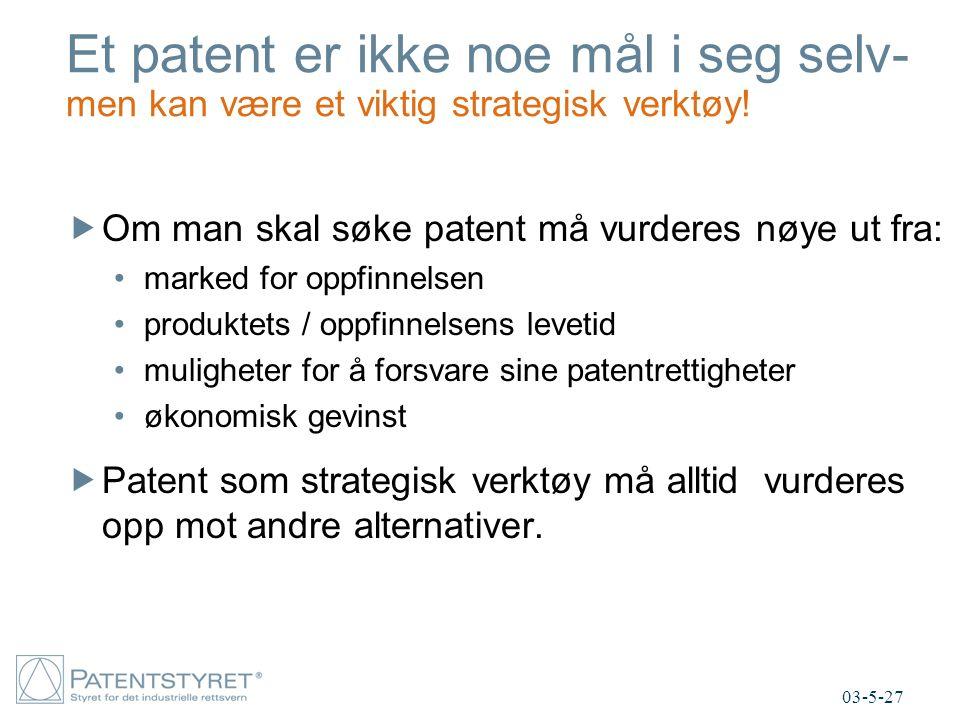 Et patent er ikke noe mål i seg selv- men kan være et viktig strategisk verktøy.