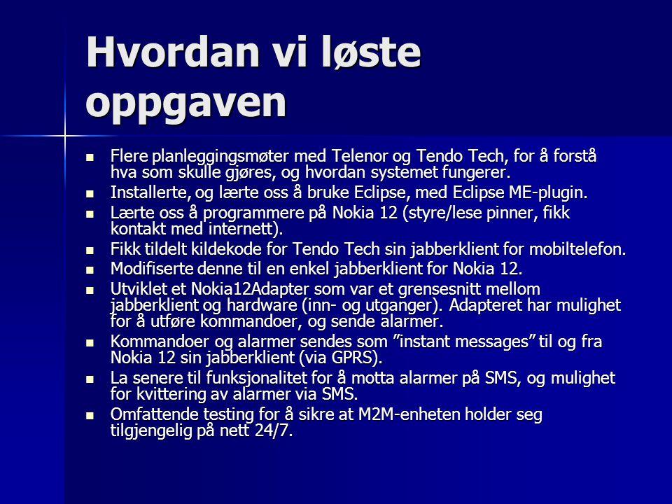 Nokia 12 med testboard: