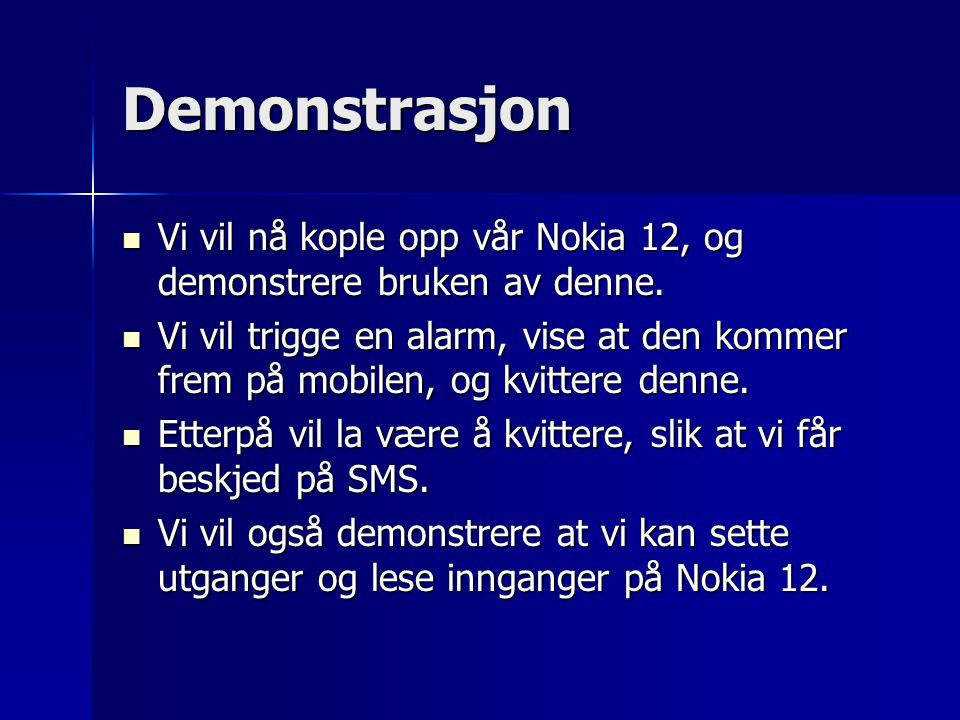 Videre arbeid Tendo Tech vil videreutvikle vår jabberklient og Nokia12Adapter.