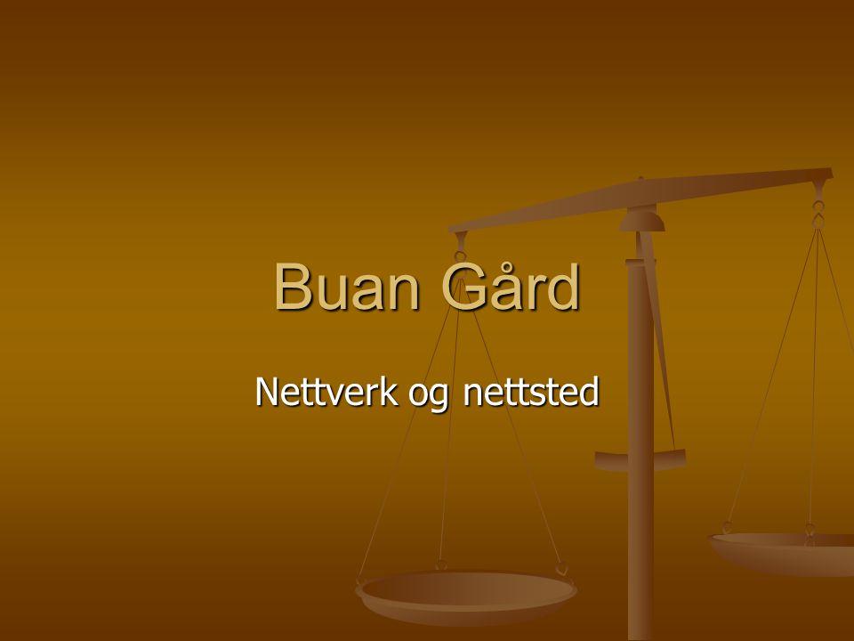 Buan Gård Nettverk og nettsted