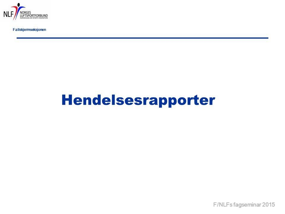 Fallskjermseksjonen Hendelsesrapporter F/NLFs fagseminar 2015