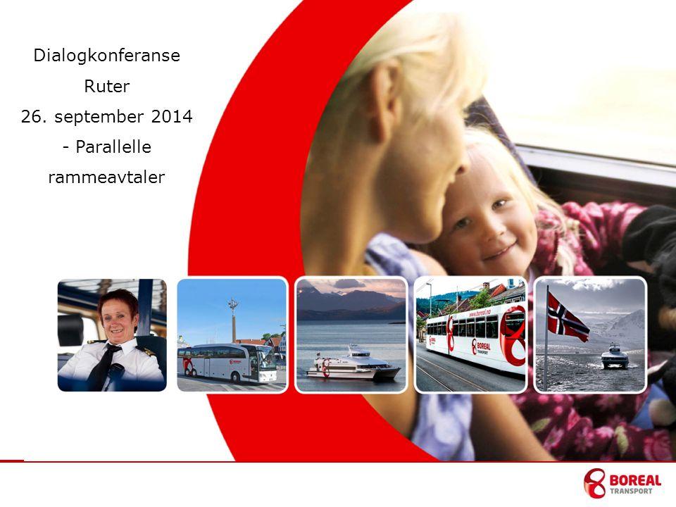 Dialogkonferanse Ruter 26. september 2014 - Parallelle rammeavtaler