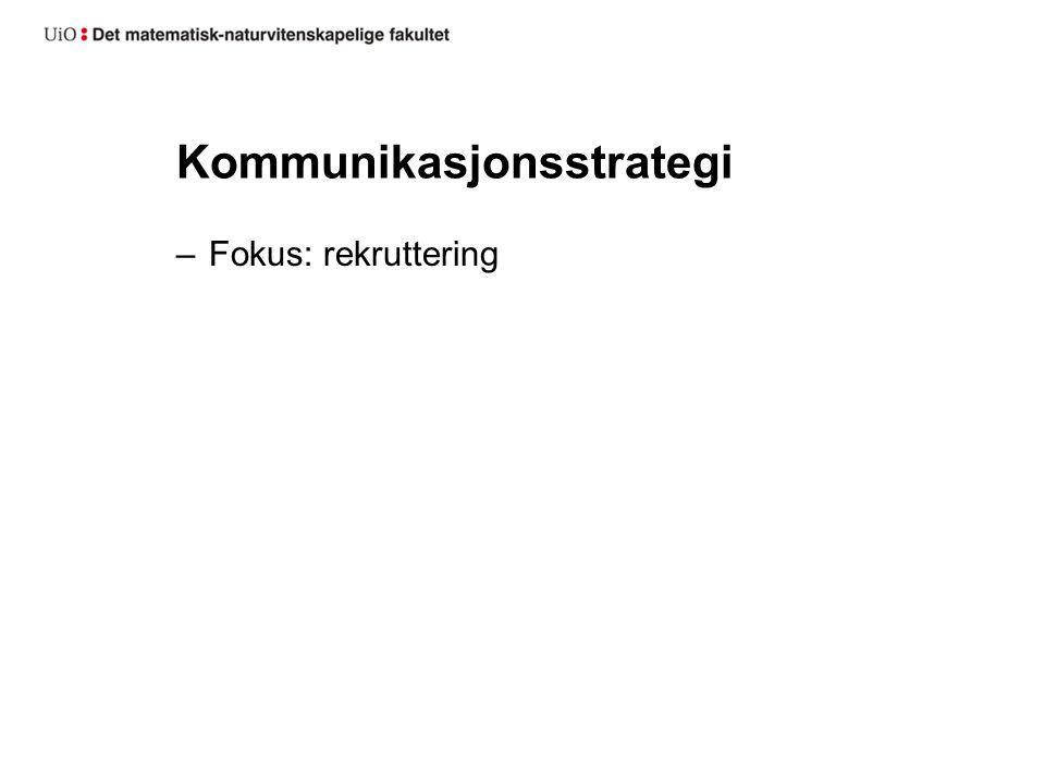 Kommunikasjonsstrategi –Fokus: rekruttering