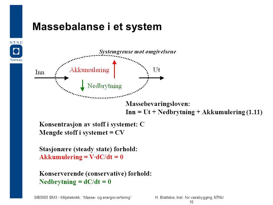 SIB5005 BM3 - Miljøteknikk: Masse- og energioverføring H.