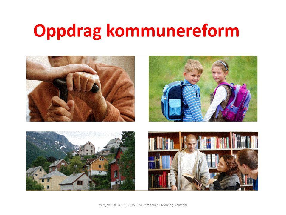 Oppdrag kommunereform Versjon 1 pr. 01.03. 2015 - Fylkesmannen i Møre og Romsdal