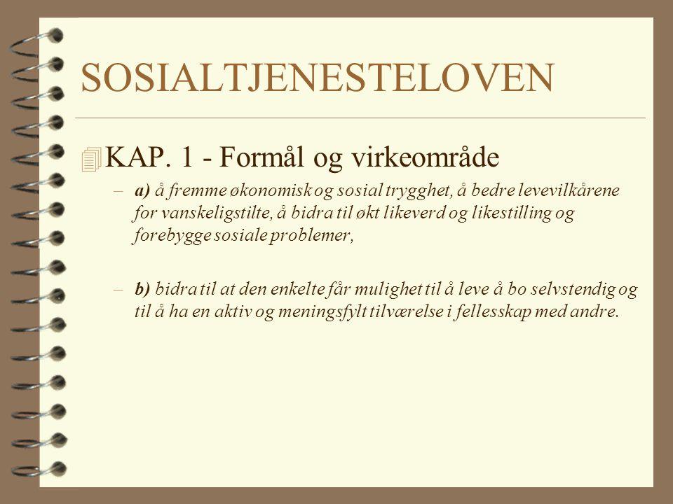 SOSIAL.TJ.LOVEN, kap.4A 4 § 4A-3 RETT TIL MEDVIRKN.