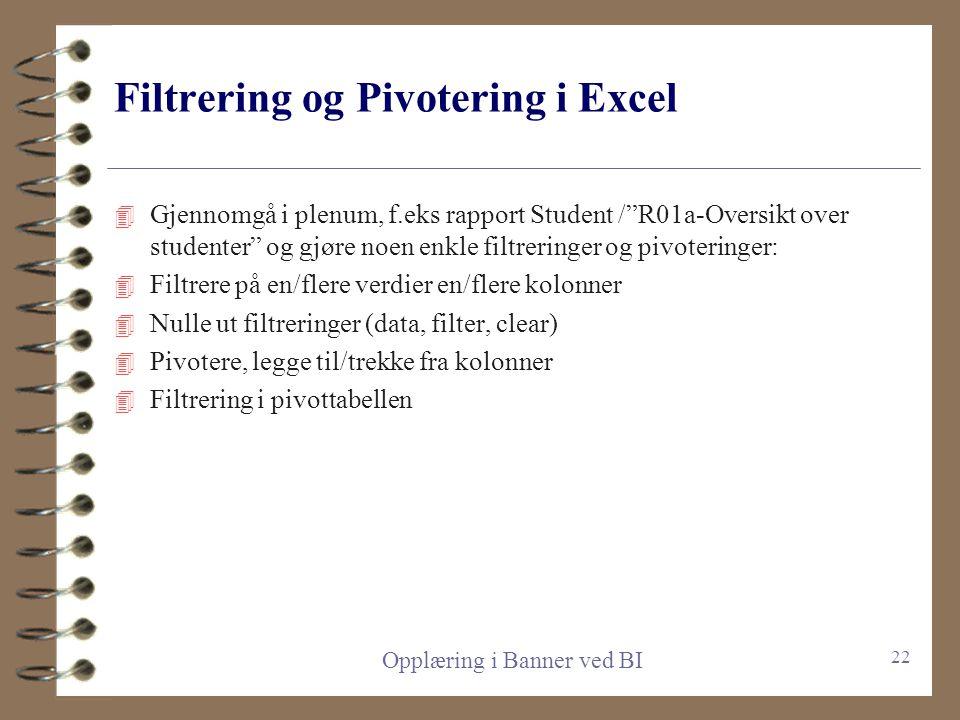 Operatorer for kriterier/conditions 4 De to mest brukte er = og LIKE 4 = brukes for en spesifikk angitt verdi, f.eks Student type = 1. Da plukkes kun