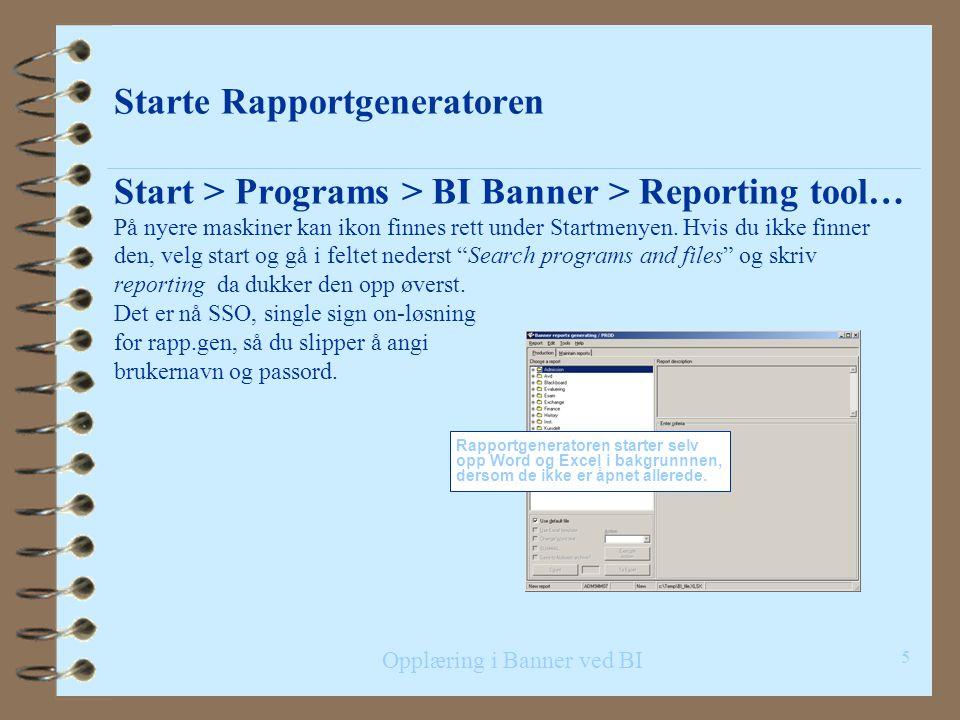 Opplæring i Banner ved BI Installasjon og dokumentasjon 4 Forhåndsinstallert på BIs PC'er 4 Oppgraderinger går normalt automatisk 4 Manuell installasj